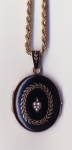 Mourning locket worn by Rose Sutton Parker at the 1909 inquir