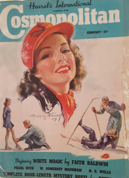 """Beauty on Ice."" Bradshaw Crandell, Cosmopolitan, Feb 1939"
